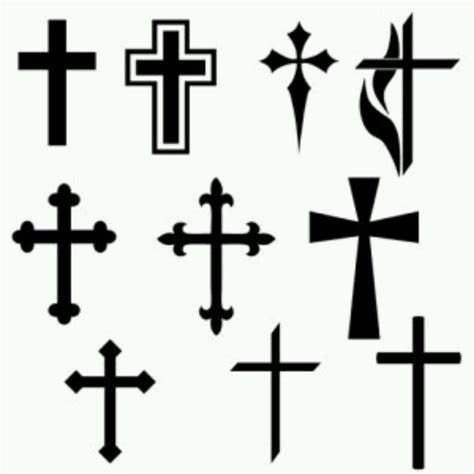 cross silhouette tattoo 9 cross designs ideas