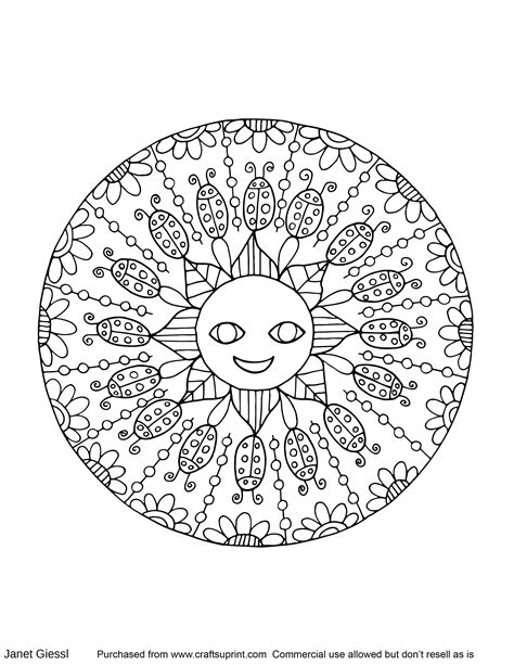 summer color pages summer mandala coloring pages coloring for