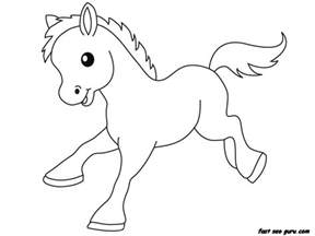 baby animal coloring pages print out farm pony baby animals coloring pages