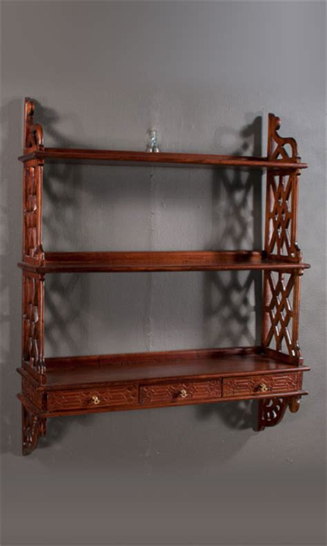 Deep Sofas Chippendale Hanging Wall Shelf Clark Antiques Gallery