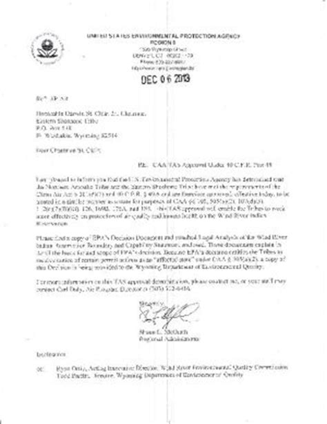 Reservation Letter Insurance Epa Riverton Part Of The Wind River Indian Reservation