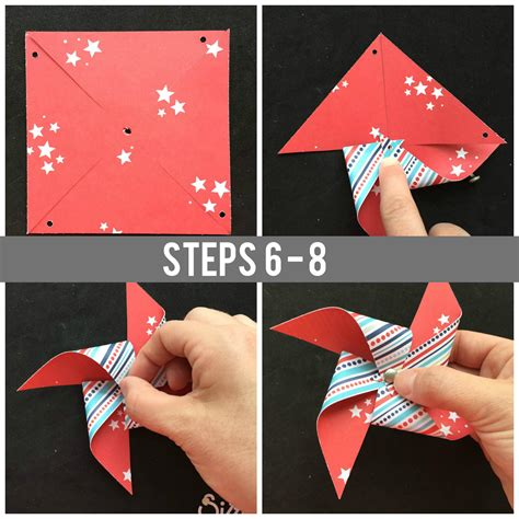 Make A Paper Windmill - how to make a pinwheel with paper scraps free tutorial