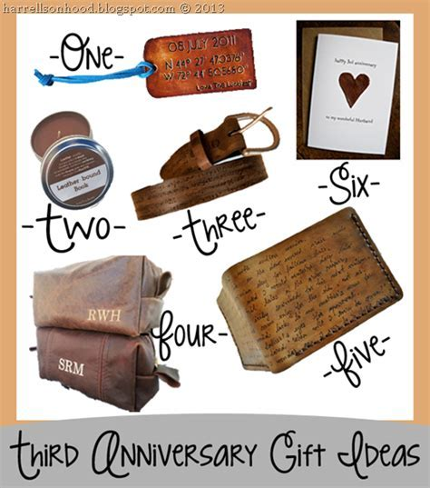third anniversary leather gift ideas for him, etsy finds