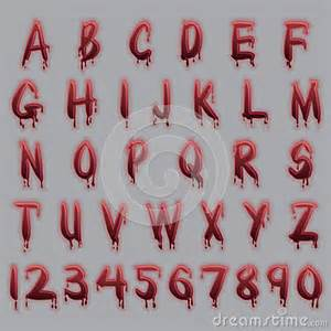Blood red alphabet letters for ease of use
