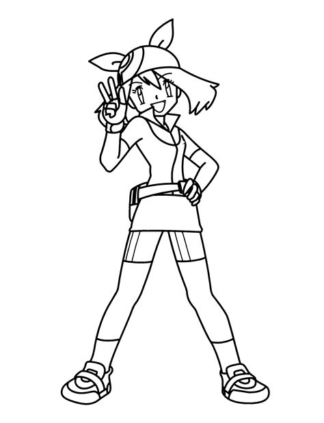 pokemon trainer coloring pages pokemon trainer coloring pages images pokemon images