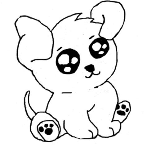 little dog coloring page tag for cute dog drawing easy easy picture of a dog to