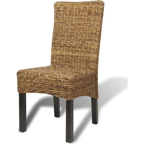 vidaxl dining chairs 2 pcs abaca brown vidaxl co uk