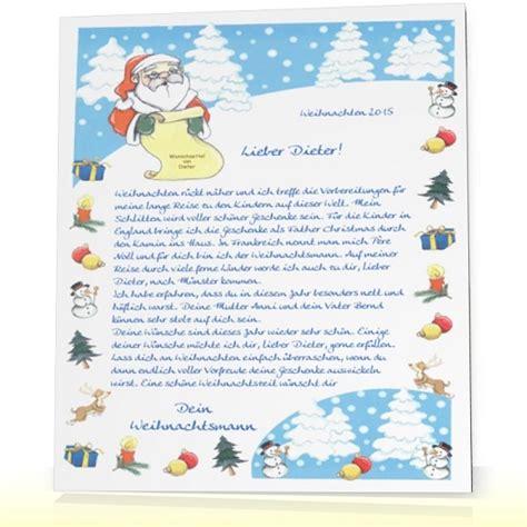 Weihnachtsbriefe Schreiben Muster Kinderbrief Brief Vom Weihnachtsmann