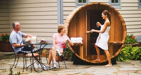 grandview barrel sauna   backyard oasis