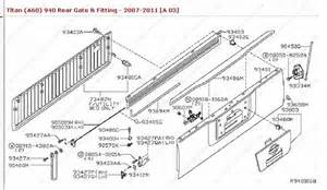 Nissan Frontier Tailgate Parts Nissan Frontier Tailgate Parts Diagram Auto Parts Diagrams