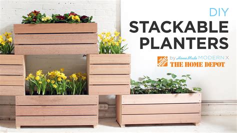 Garden Planters Diy by A Vertical Garden Made From Diy Stackable Planters Doovi