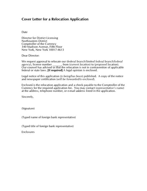 Relocation Resume Cover Letter Exles 10 relocation cover letter exles for resume writing