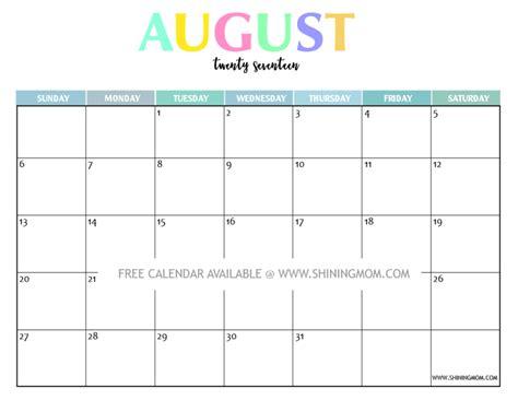 printable calendar july august 2017 your free 2017 printable calendar fun and colorful
