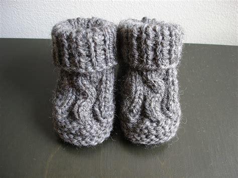 free knitting patterns baby socks two needles knit cabled baby booties free knitting pattern