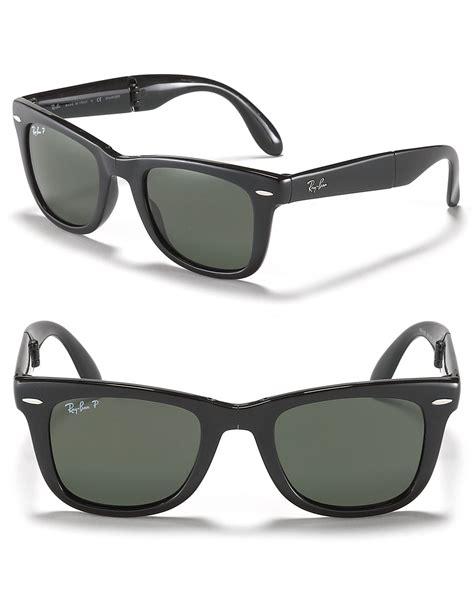ban folding polarized wayfarer sunglass in black