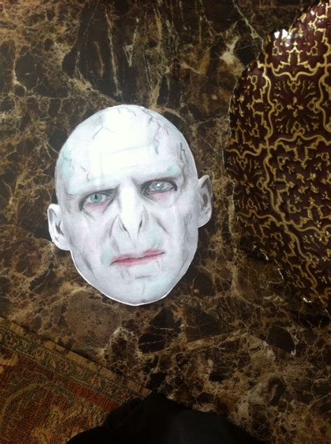 printable voldemort mask 7 best harry potter images on pinterest costume ideas