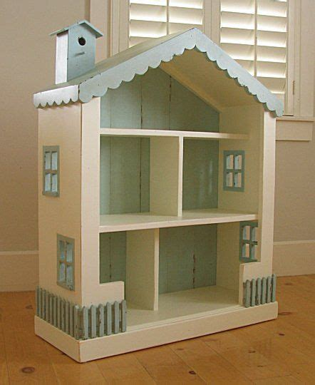 details about cottage dollhouse bookcase 15 colors solid