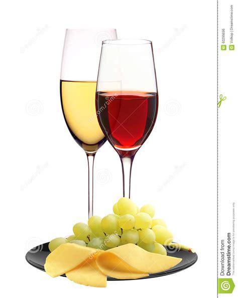 Bicchieri Da Bianco E Rosso Bicchieri Di Con Rosso Bianco Ed E Formaggio
