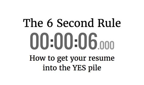 Resume 6 Second Rule by Reach Your Destination