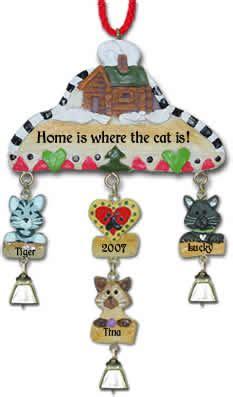 cat house christmas ornament cat ornaments