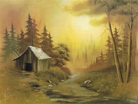 bob ross painting cabin bob ross paintings landscapes a wood cabin for
