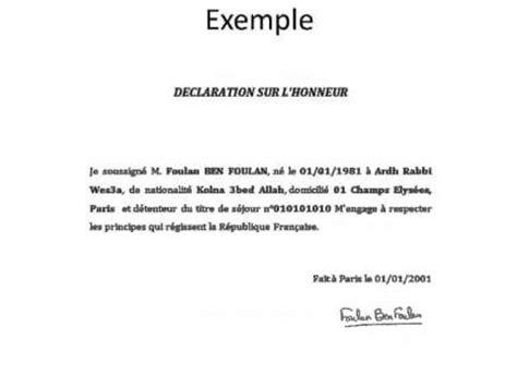 Exemple De Lettre Qui Certifie Sur L Honneur attestation d h 233 bergement a remplir pdf page 1 10