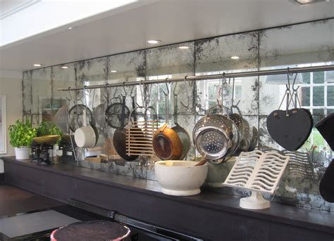 antique mirror tile backsplash antique mirror backplash touches modern feature with vintage style homesfeed