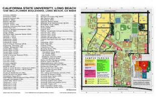 Cal State Long Beach Campus Map by California State University At Long Beach Map Long Beach