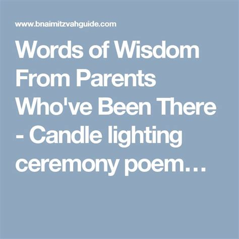 bat mitzvah candle lighting poems words of wisdom from parents who ve been there candle