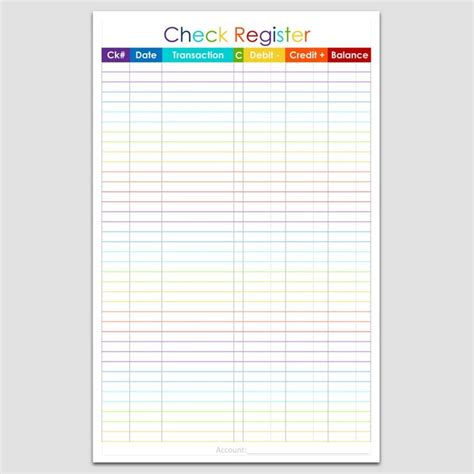 free checkbook register best 25 checkbook register ideas on check