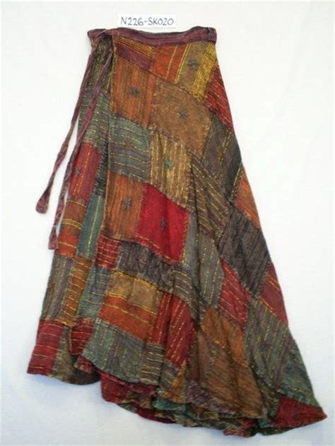 Patchwork Hippie Skirts - n226 sk020 hippy skirt ethnic hippy patchwork wrap around