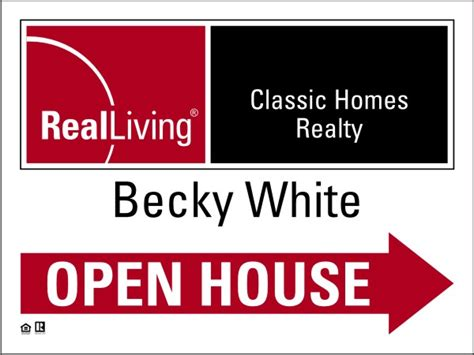 real estate agent open house real living real estate enhanced logo agent open house sign panel 4mm corrugated