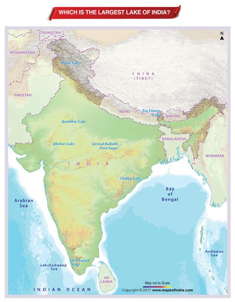worlds largest lakes map india map map of india