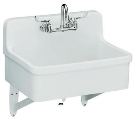 Scrub Up Sink kohler k 12787 0 gilford scrub up plaster sink with two faucet drilling 30 traditional