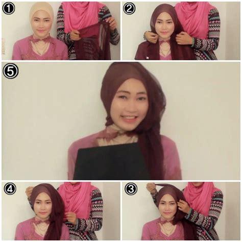 tutorial hijab paris dengan kebaya tutorial hijab kebaya untuk wisuda 2