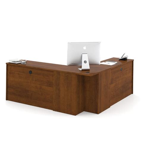 Bestar Embassy Corner Desk In Tuscany Brown 60899 63 Bestar Corner Desk