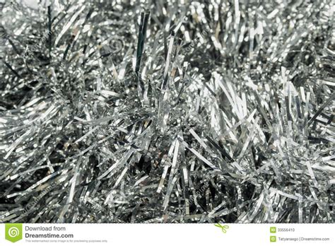 silver tinsel stock photo image of concept celebration