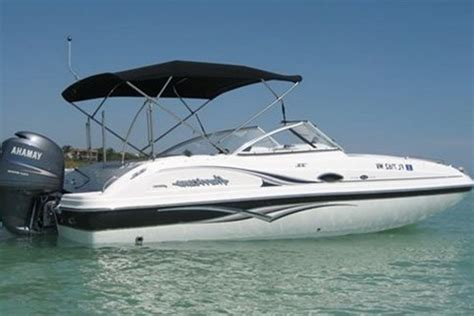 motor boats rent a hurricane sun deck party boat 23 motorboat in palm