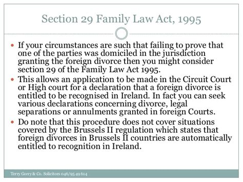 Divorce Section by The Recognition Of Foreign Divorces In Ireland