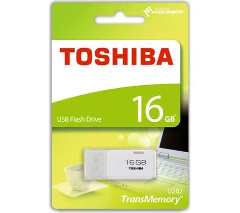 Flash Memory Toshiba 16 Gb buy toshiba transmemory usb 2 0 memory stick 16 gb white free delivery currys