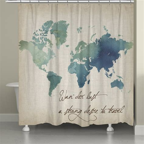 watercolor shower curtain watercolor wanderlust shower curtain laural home