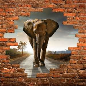 sticker mural trompe l oeil el 233 phant d 233 co stickers
