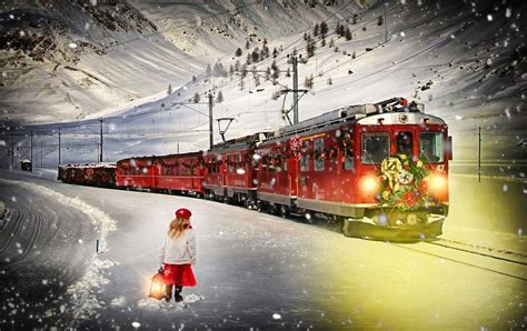 film natal the polar express kostenlose foto schnee winter nacht transport