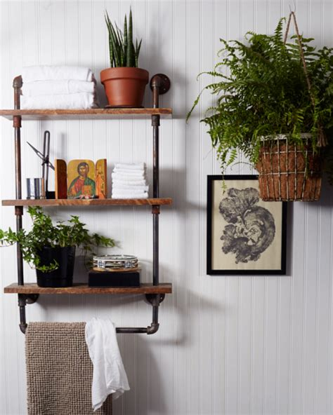 Bathroom Pipe Shelving Design Ideas Pipe Shelves The District Table