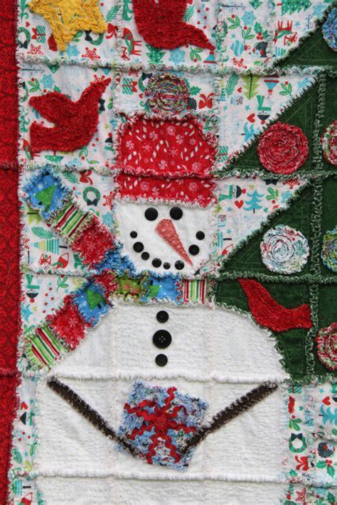 Snowman Rag Quilt Pattern by Rag Quilt Pattern Snowman Rag Quilt 53 Quot X 68