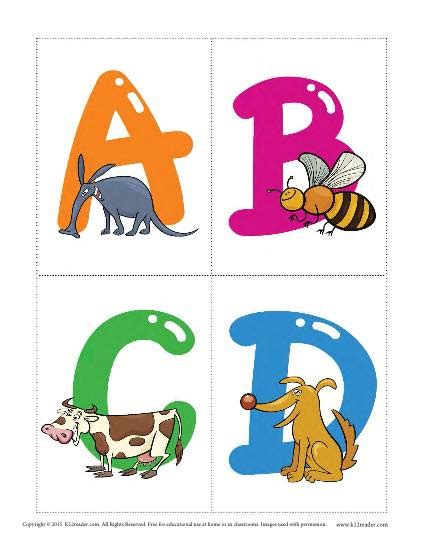 printable alphabet flash cards with animals animal alphabet flashcards vocabulary worksheets