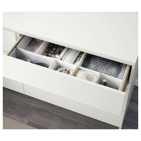 malm chest of 6 drawers white 160x78 cm