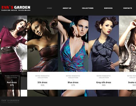 clothing web themes fashion wear website template web design templates