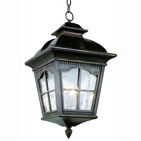 Bel Air Outdoor Lighting Bel Air Lighting Bostonian 3 Light Outdoor Antique Rust Hanging Lantern With Water Glass 5421 Ar