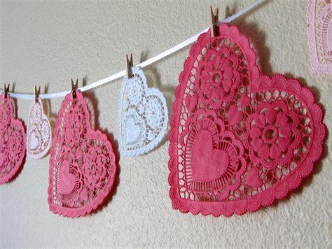 valentines garland stayathomeartist s day doily garland